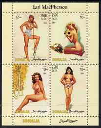 Somalia 2004 Glamour Paintings by Earl MacPherson perf sheetlet containing 4 values unmounted mint