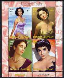 Somalia 2004 Elizabeth Taylor perf sheetlet containing 4 values unmounted mint