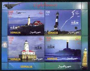 Somalia 2004 Lighthouses perf sheetlet containing 4 values unmounted mint