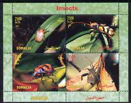 Somalia 2004 Insects perf sheetlet containing 4 values unmounted mint