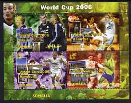 Somalia 2004 Football World Cup 2006 perf sheetlet containing 4 values unmounted mint