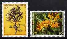 New Caledonia 1989 Flowers set of 2 unmounted mint, SG 855-56