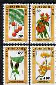 Senegal 1988 Flowers set of 4 unmounted mint, SG 969-72