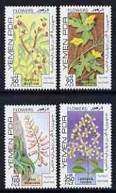 Yemen - Republic 1981 Flowers (2nd series) set of 4 unmounted mint, SG 265-68