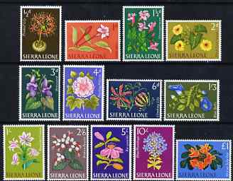 Sierra Leone 1963 Flowers in natural colours set of 13 unmounted mint, SG 242-54