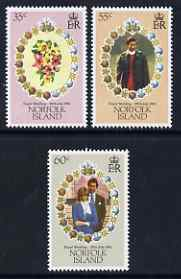 Norfolk Island 1981 Royal Wedding set of 3 unmounted mint, SG 262-64