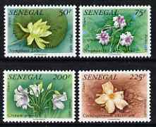 Senegal 1982 Flowers set of 4 unmounted mint, SG 739-42