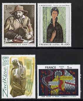 France 1980 French Art set of 4 unmounted mint, SG 2338-41