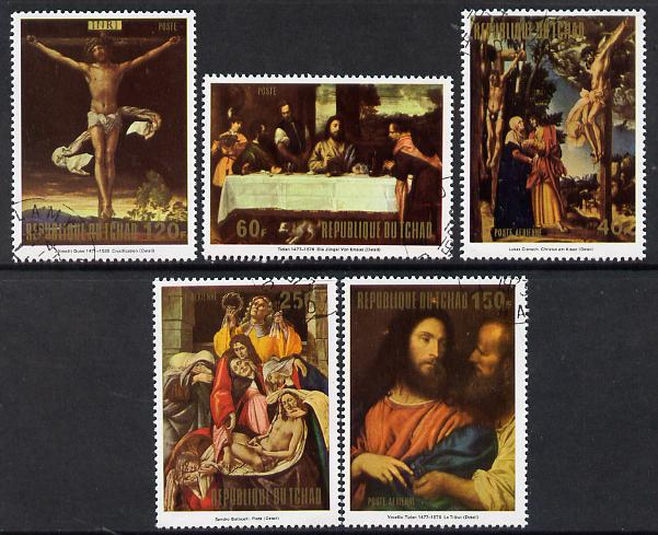 Chad 1973 Easter Paintings set of 5 cto used