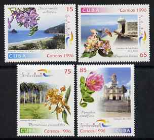Cuba 1996 Tourism and Flowers set of 4 unmounted mint, SG 4092-95