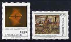 Argentine Republic 1980 Paintings set of 2 unmounted mint, SG 1697-98
