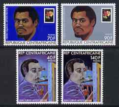 Central African Republic 1982 Painters set of 4 unmounted mint, SG 880-83