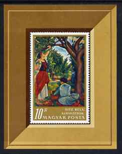 Hungary 1967 Apple Pickers painting by Uitz m/sheet unmounted mint, SG MS 2325