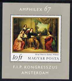 Hungary 1967 'Amphilex' Stamp Exhibition, Amsterdam m/sheet unmounted mint, SG MS 2274