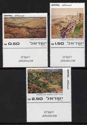 Israel 1981 Paintings of Jerusalem set of 3 with tabs unmounted mint, SG 804-06