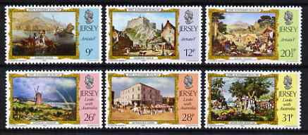 Jersey 1984 Links with Australia - Paintings by John Alexander Gilfillan set of 6 unmounted mint, SG 344-49
