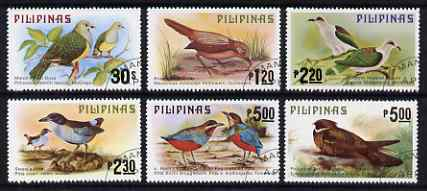 Philippines 1979 Birds set of 6 fine used, SG 1504-09