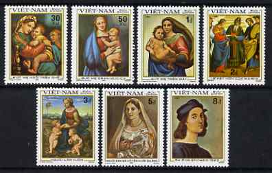 Vietnam 1983 500th Birth Anniversary of Raphel set of 7 unmounted mint, SG 573-79, stamps on arts, stamps on raphael