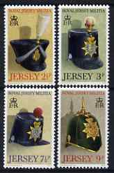 Jersey 1972 Royal Jersey Militia set of 4 unmounted mint,, SG 77-80
