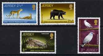 Jersey 1972 Wildlife Presevations Trust (2nd series) set of 4 unmounted mint,, SG 73-76