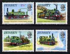 Jersey 1973 Centenary of Jersey Eastern Railway set of 4 unmounted mint, SG 93-96