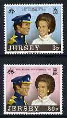 Jersey 1973 Royal Wedding set of 2 unmounted mint,, SG 97-98