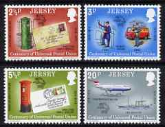 Jersey 1974 Centenary of UPU set of 4 unmounted mint, SG 107-110