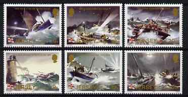 Jersey 1984 Centenary of Jersey RNLI Lifeboat Station set of 6 unmounted mint, SG 334-39