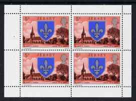 Booklet - Jersey 1976 St Mary's Church 5p booklet pane of 4 unmounted mint, SG 139a