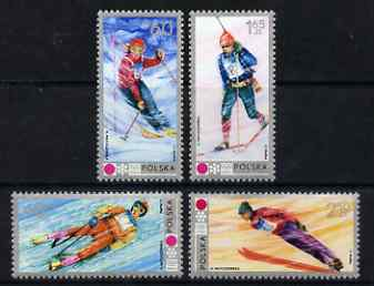 Poland 1972 Winter Olympics, Sapporo set of 4 unmounted mint, SG 2128-31