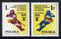 Poland 1976 World Ice Hockey Championships set of 2 unmounted mint, SG 2426-27