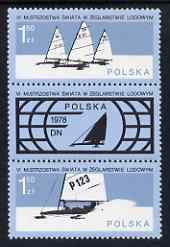 Poland 1978 World Ice Sailing Championships set of 2 se-tenant with label unmounted mint, SG 2528-29