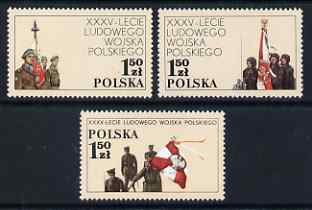 Poland 1978 35th Anniversary of Polish People's Army set of 3 unmounted mint, SG 2566-68