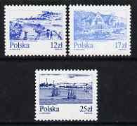Poland 1982 Views of the Vistula River set of 3 unmounted mint, SG 2846-48