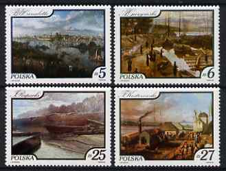 Poland 1984 Paintings of the Vistula River set of 4 unmounted mint, SG 2937-40