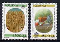 Poland 1992 International Nutrition Conference set of 2 unmounted mint, SG 3444-45