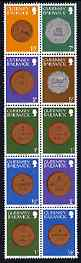 Booklet - Guernsey 1982 Coins in 30p booklet format (2 x 1/2p, 3 x 1p, 2 x 2p, 1 x 5p, 1 x 7p, 1 x 10p) unmounted mint, SG 177a