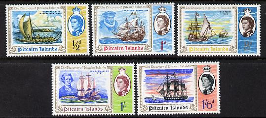 Pitcairn Islands 1967 Bicentenary of Discovery set of 5, SG 64-68 unmounted mint*