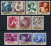 Spain 1968 Stamp Day & Fortuny Commemoration set of 10 unmounted mint, SG 1912-21