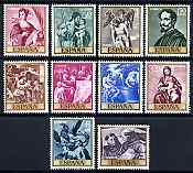 Spain 1969 Stamp Day and Alonso Cano commem set of 10 unmounted mint, SG 1968-77