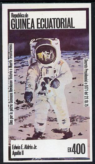 Equatorial Guinea 1978 USA Astronauts 400ek imperf deluxe sheet (Ed Aldrin) unmounted mint