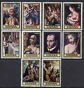 Spain 1970 Stamp Day & Luis de Morales commem set of 10 unmounted mint, SG 2021-30