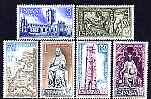 Spain 1971 Holy Year of Compostela (1st Issue) set of 6 unmounted mint, SG 2066-71