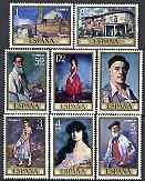 Spain 1971 Stamp Day & Ignacio Zuloaga commem set of 8 unmounted mint, SG 2077-84