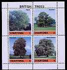 Chartonia (Fantasy) British Trees perf sheetlet containing 4 values unmounted mint