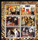 Djibouti 2004 Chess (Featured in old Paintings) perf sheetlet containing 6 values each with Rotary Logo, unmounted mint