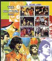 Congo 2004 The Beatles (1967) large perf sheet containing 6 values, unmounted mint