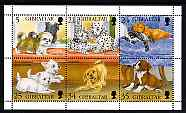 Gibraltar 1996 Puppies perf sheetlet containing set of 6 values unmounted mint, SG 761a
