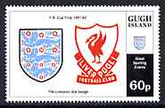 Gugh (Isles Of Scilly) 1996 Great Sporting Events - Football 60p - The Liverpool Club Badge unmounted mint
