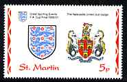 St Martin (Isles Of Scilly) 1996 Great Sporting Events - Football 5p - The Newcastle United Club Badge unmounted mint